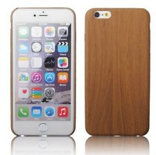 Wood Pattern Case Soft PU Leather Shockproof Slim Cover Shell for iPhone Samsung