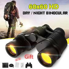 60X60 Zoom Binoculars Day/Night Vision Travel Outdoor Hd Hunting Telescope +Case