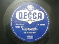 "LOS MACHUCAMBOS F 11369 INDIA INDIAN RARE 78 RPM RECORD 10"" PURPLE VG+"