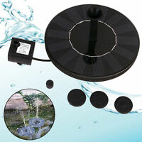 Solar Panel Powered Pump Kits Float Water Fountain Pool Garden Pond Submersible