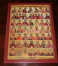 Große DEESIS Ikone Jesus Christus Maria viele Heilige Icon Madonna Icoon икона