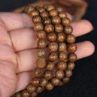 Wenge Prayer Beads Buddhist Mala Buddha Bracelet Rosary Wooden Jewelry Fashion