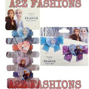 Official Disney Frozen 2 Character Girls 2 or 4 Pack Hair Clip Bow Elsa and Anna