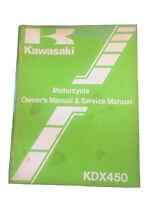 Kawasaki OEM Factory Service Manual 81 KDX450