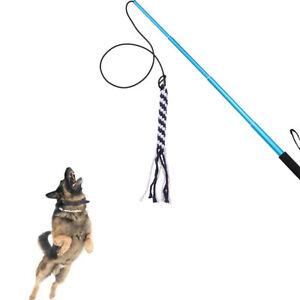 Flirt Pole Dog Toy Ropes Durable Braided Cotton Blend Outdoor Pulling Chasing