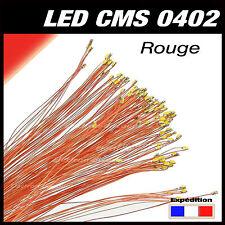C144R# LED CMS pré-câblé 0402 rouge fil émaillé 5 à 20 pcs  - red prewired LED
