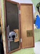 Mitutoyo Universal Bevel Protractor 187 904 6 Blade Machinist Tool Of34