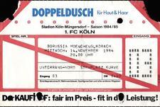 Ticket BL 84/85 1. FC Köln - Borussia Mönchengladbach, 14.11.1984