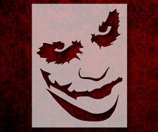 "Joker Smiling Modern 8.5"" x 11"" Stencil FAST FREE SHIPPING (564)"