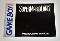 MANUAL ONLY Super Mario Land Original Nintendo Gameboy Instruction Booklet