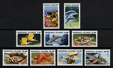 MARSHALL ISLANDS, SCOTT # 1045-1053, COMPLETE SET OF 9 FISH & MARINE LIFE, MNH