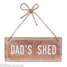 Vintage Distressed Dad's Shed Hanging Wooden Sign Plaque
