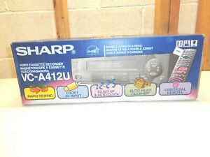 SHARP Double Azimuth 4-Head VCR & Remote~Model VC-A412U ~New & Unopened