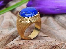orient Massive silber Vergoldet Ring Lapis Lazuli Afghanistan gold-plated no.436