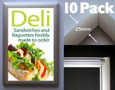 Snap Frame x10 Pack: A4 Aluminium - Poster Click Frame Display