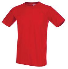 Negro Gris Verde Rojo Azul Liso clásico-t Ajustado 100% COTTON Camiseta Camiseta