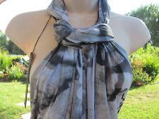 ELANA KATTAN SCARF SCARVES Wrap NWT Gray White Black Beautiful Abstract!