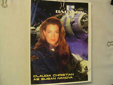 Claudia Christian, TV Star, Autograph, Babylon 5, Captain Sheridan, Space Show