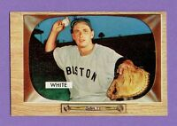 1955 Bowman Baseball Card  #47 Sammy White Boston Red Sox Excellent Condition