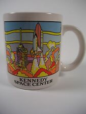VTG KENNEDY SPACE CENTER COFFEE MUG CUP W/ SPACE SHUTTLE ROCKET LAUNCH CLEAN!