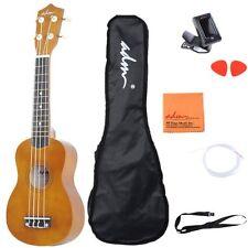 """ADM 21"""" Economic Soprano Ukulele Start Pack with Gig bag, Tuner, Mocha"""