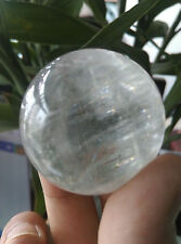 35MM NATURAL CLEAR QUARTZ CRYSTAL SPHERE BALL HEALING GEMSTONE + Stand