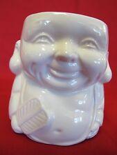 """PORCELAIN 4"""" CUTE ORIENTAL BUDDA """"HAPPY FACE"""" by SAFFORD COFFEE MUG. MARKED"""
