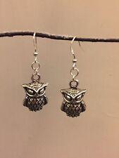 HARRY Potter ispirato Wise Owl Orecchini Silver Plated Ganci