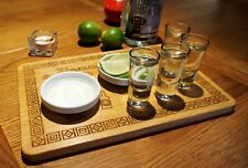Personalised Shot Slammer Tequila Glass Serving Board Housewarming Party Gift