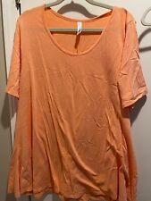 Lularoe Perfect T Heather Orange Size 2XL