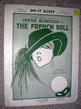 1922 DO IT AGAIN Sheet Music THE FRENCH DOLL Irene Bordoni by GEORGE GERSHWIN