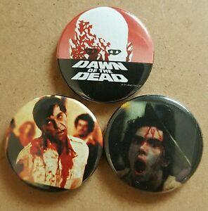 Dawn of the dead badge set George A Romero *