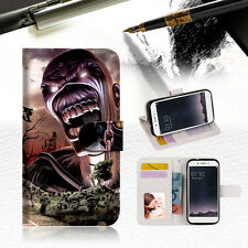 Iron Maiden Wallet TPU Case Cover For OPPO R9S -- A014