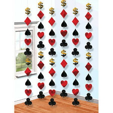 Casino Party String Decorations ~ Birthday Party Favor Supplies ~ Total 42 Feet