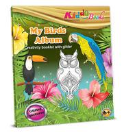QuackDuck Malbuch My Birds Album - Mein Vogel Album - Malen auf Glitter
