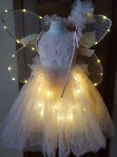 Pottery Barn Kids Light Up Pink Flower Fairy Costume Girls Sz 4-6 Dress Up! NEW!