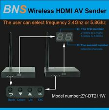 BNS HD 1080p with 2.4Ghz or 5.8Ghz  Wireless Digital HDMI AV Sender Receiver