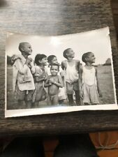 Original B & W Photograph Vintage India Hyderabad Brahmin Children 1950s?