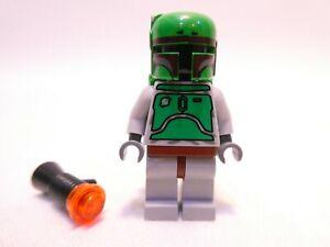 LEGO STAR WARS BOBA FETT BLUISH GREYS MINIFIGURE GENUINE BLASTER 6209 SW0002a