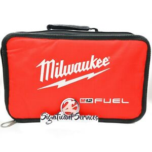 """Milwaukee M12 Zippered Contractor Carrying tool Bag Case 15"""" x 9"""" x 3"""""""