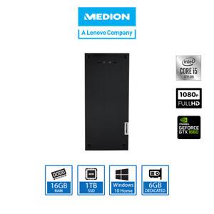MEDION Akoya P67064  Gaming Desktop PC (i5-10400, 16GB, 1TB SSD, GTX 1660 Super)