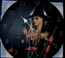Nemesis Now Aly Fell 34cm WINTER WITCH WALL CLOCK Gothic Wiccan Pagan Witchcraft