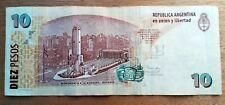 Billet de banque USED XF  Argentine 10 Pesos   , plis , fold AR48