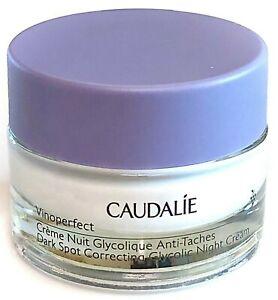 Caudalie Vinoperfect Dark Spot Correcting Glycolic NIGHT Cream Moisturiser 15ml