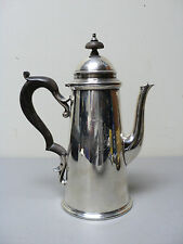 """RARE 19th C.""""LIGHTHOUSE"""" FORM STERLING SILVER COFFEE POT, EBONIZED WOOD HANDLE"""