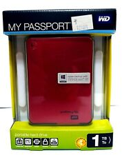 WD My Passport 1TB Portable Storage USB 3.0 Western Digital Hard Drive ~ryokan
