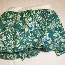Queen Sized Bed Skirt Laura Ashley Bramble Berry Green Cotton Polyester