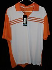 Mens NWT Adidas Clima Cool Sz L Golf Shirt Orange French Lick Springs Hotel New