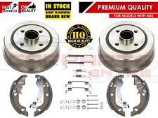 FOR VAUXHALL CORSA C MK2 2000- REAR BRAKE DRUMS SHOES FITTING KIT WITH ABS