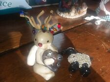 bread dough ornaments reindeer and sheep